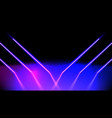 abstract neon glowing pink and blue lines vector image vector image