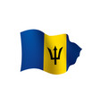 barbados flag vector image