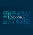block chain blue outline creative vector image