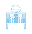 boy and cot baby shower furniture infant symbol vector image vector image