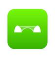 bridge icon green vector image vector image