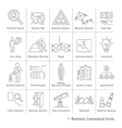 Business management conceptual icons thin line vector image vector image