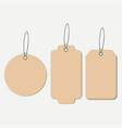 cardboard tags vector image vector image