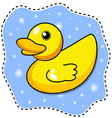 cartoon yellow duck vector image