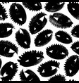 charcoal eyes seamless pattern vector image