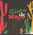 cinco de mayo 5 of may holiday cinco de mayo vector image vector image