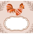 Cock bird ethnic pattern text box vector image vector image