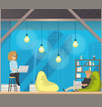 coworking open space center concept vector image