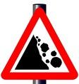 Danger Falling Rocks Traffic Sign vector image