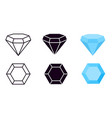 diamond icon diamonds gems jewelry diamantes vector image vector image