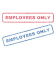 employees only textile stamps vector image vector image