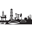 Extraction and processing of oil scene vector image
