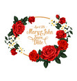 flowers for save the date wedding design vector image