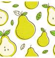frash pears modern beauty seamless vector image vector image