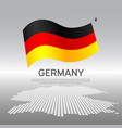 germany wavy flag and mosaic map on light vector image vector image