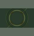 golden circle frame on green background design vector image