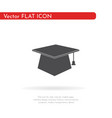 graduates cap icon for web business finance vector image vector image