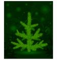 green christmas fur-tree vector image vector image