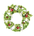 green christmas wreath vector image