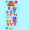 happy birthday seamless pattern vector image vector image