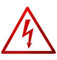 high voltage symbol vector image