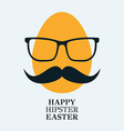 Hipster egg vector image vector image