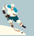 hockey player flat style vector image