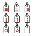 Icons Label Sticker vector image vector image
