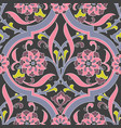iznik tile floral seamless pattern design vector image
