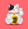 japanese beckoning cat maneki neko vector image vector image