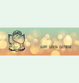 lovely lord ganesha design banner for ganesh vector image vector image