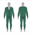 mans grey silhouette figure in a green cardigan vector image vector image