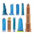modern city business or residential buildings vector image vector image
