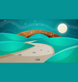 night bridge - cartoon vector image vector image