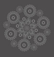 pattern on a gray background vector image