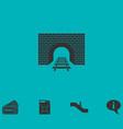 railway tunnel icon flat vector image vector image