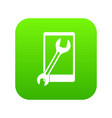 repaired phone icon digital green vector image vector image