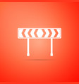 safety barricade symbol icon traffic sign road vector image