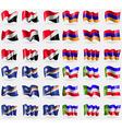 Sealand Principality Armenia Marshall Islands vector image vector image