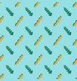 seamless pattern fun green and yellow leaves on vector image vector image