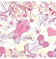 Seamless pattern with corset underwear and fashion vector image