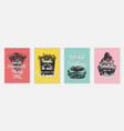 set 4 advertising and inspirational fast food vector image