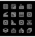 Set line icons of floor vector image vector image