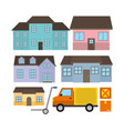 set of delivery vector image
