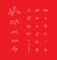 set of micro icons for the design of st valentine vector image