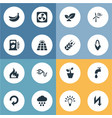 set of simple power icons vector image