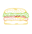 sketch of the hamburger vector image