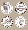 Sketch set of space logotypes vector image