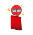 smart glasses red bag gift star design vector image vector image
