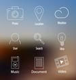 Social web contour icons set vector image vector image